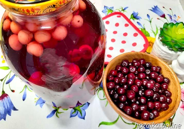 классический вишневый компот