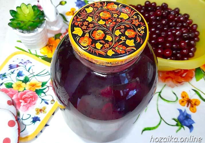 компот из вишни в банке 3 литра