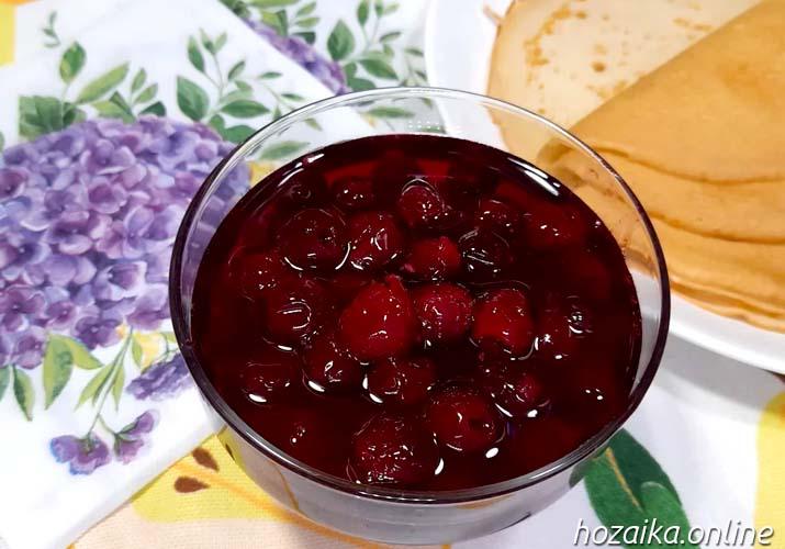 сырое варенье из вишни